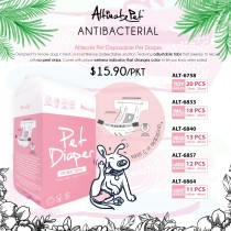 Altimate Pet Antibacterial Pet Diaper Available size in - Toy, S, M, L, Giant