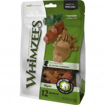 Whimzees All Natural Dog Dental Chews - Alligator Medium 12pcs