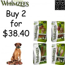 Whimzees All Natural Dog Dental Chews - 'Bundle Mix 2 for $38.40