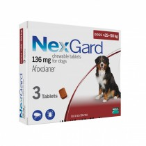 NexGard Chews For X-Large Dogs 25-50kg - 3 & 6 Tablets