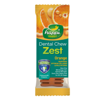 "Happi Doggy Dental Chew Zest 4"" Orange - 25g"