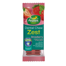 "Happi Doggy Dental Chew Zest 4"" Strawberry - 25g"