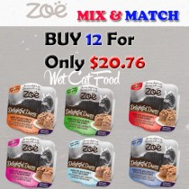 """""""ZOE CAT WET RECIPES DELIGHTFUL DUETS SAVORY PATE MIX & MATCH BUY 12 FOR ONLY $20.76"""