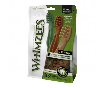 Whimzees All Natural Dog Dental Chews - Toothbrush XX-Small 113pcs