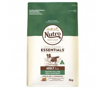 Nutro Dog Wholesome Essentials Adult Lamb, Rice & 'Vegetables - 3kg