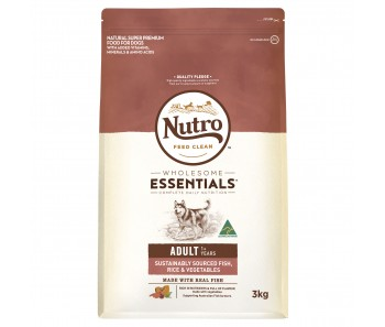 Nutro Dog Wholesome Essentials Adult Fish, Rice & 'Vegetables - 3kg
