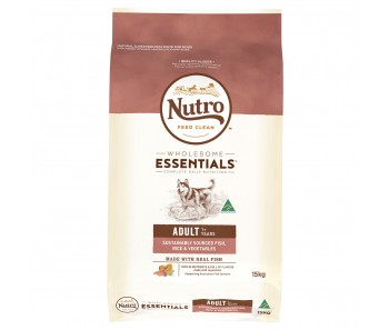 Nutro Dog Wholesome Essentials Adult Fish, Rice & Vegetables - 15kg