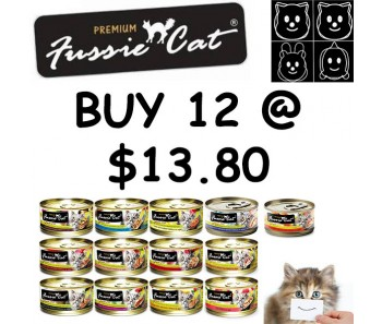 'Fussie Cat' Canned Food Premium - Bundle Mix - Buy Any 12 for $13.80