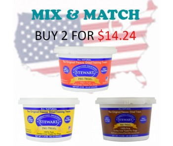 'Stewart Pro-Treat® Tub 1.5 & 2 oz - Buy 2 for $14.24