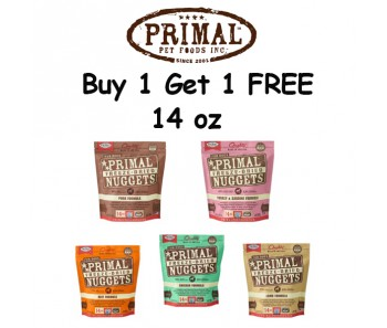 'Primal Freeze-Dried Canine 14oz (Duo Bundle Mix)  - Buy 1 Get 1 Free