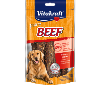 Vitakraft Dog Treats Pure Beef Tripe Stripes 80g