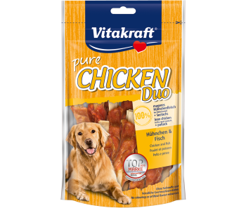Vitakraft Dog Treats Pure Chicken Duo With Fish 80g