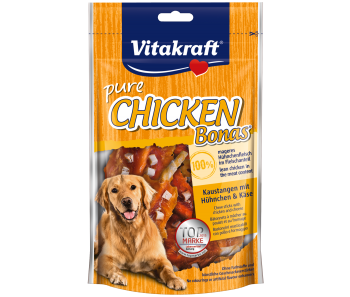 Vitakraft Dog Treats Pure Chicken with Bone & Cheese 80g