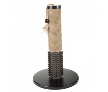 All For Paws - Classic Comfort Mochachino Scratching Post with Rubber Bristles