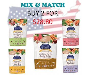 """Stewart® Raw Naturals™ 'Freeze Dried Food Trial Size Promo - Buy 2 for $28.80"