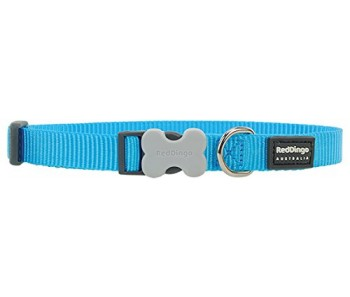 Red Dingo Dog Collar Classic - Turquoise - Available In S, M, ML & L