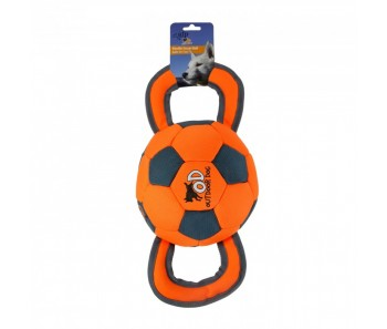 All For Paws - Outdoor Dog Ballistic Handle Ball - Orange