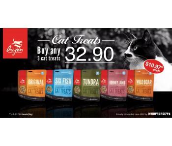 """Orijen Cat Freeze Dried Treats Promo Buy Any 3 for $32.90"""