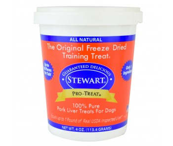 Stewart Pro-Treat® Freeze Dried Pork Liver Tub - 4 oz