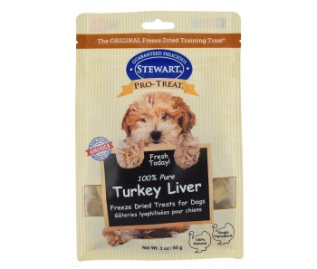 Stewart Pro-Treat® Freeze Dried Turkey Liver Pouch - 3 oz