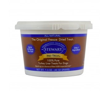 Stewart Pro-Treat® Freeze Dried Turkey Liver Tub - 1.5 oz