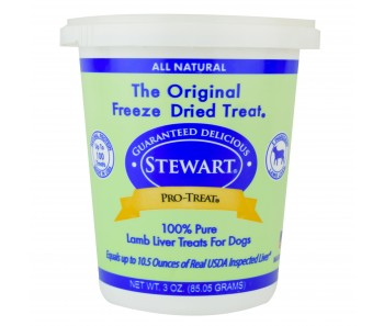 Stewart Pro-Treat® Freeze Dried Lamb Liver Tub - 3 oz
