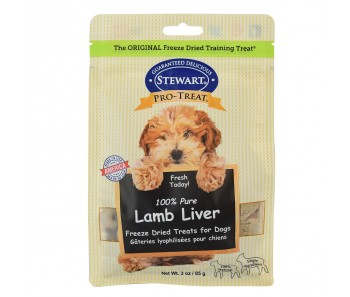 Stewart Pro-Treat® Freeze Dried Lamb Liver Pouch - 3 oz