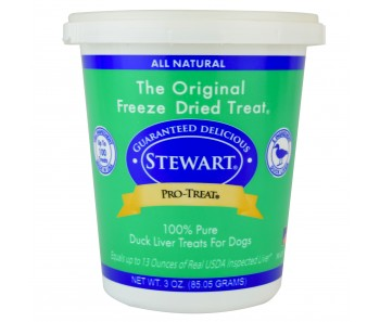 Stewart Pro-Treat® Freeze Dried Duck Liver Tub - 3 oz