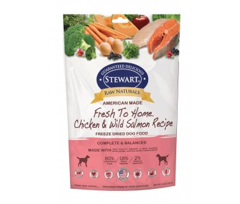 Stewart® Raw Naturals™ Freeze Dried Food Chicken & Salmon 'Recipe - 3.5 oz