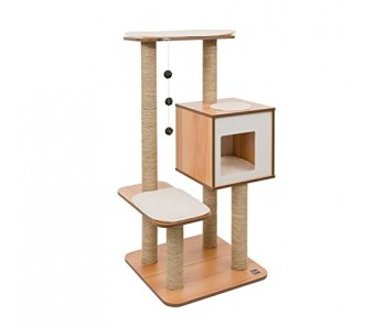 Vesper Cat Furniture V-High Base (B)56 x 56cmx(H)121.5cm - Available in Walnut & Black colour