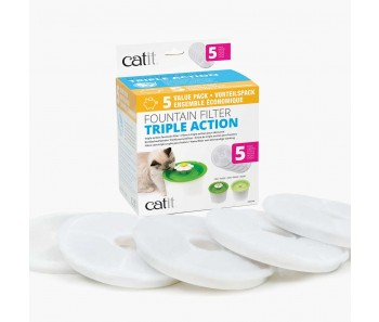 Catit Triple Action Filter – 5 packs