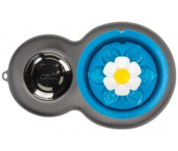 Catit Flower Fountain LED Combo and Placemat with Stainless Steel Dish 3L