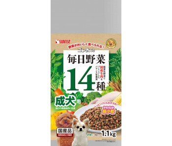 Sunrise Semi-Moist Food 14 Veggies Adult Dog - 1.1kg