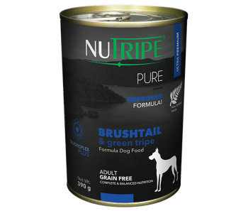 Nutripe Dog Canned Pure' Brushtail & Green Tripe Formula 390g