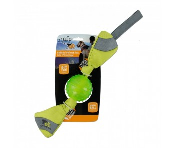 All For Paws - Outdoor Dog Ballistic TPR Toss - Green