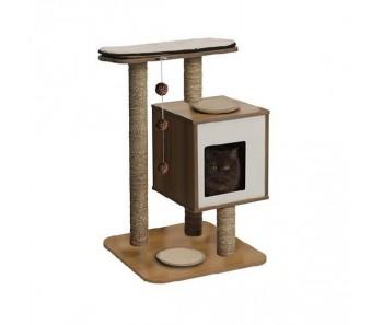 Vesper Cat Furniture V-Base (B)55.5x(H)81.5cm - Available in Walnut & Black colour