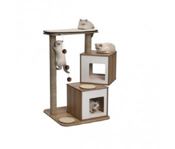 Vesper Cat Furniture V-Double 103.5x65x65cm - Walnut colour