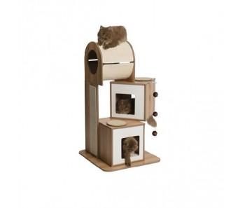 Vesper Cat Furniture V-Tower (B) 65x65cm x (H) 117.5cm - Available in Walnut & Black colour