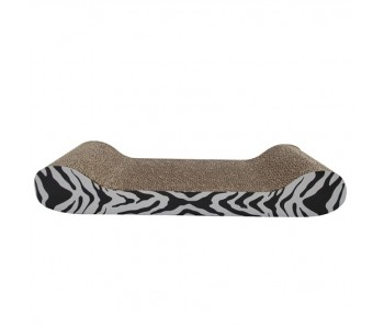 Catit Cat Scratcher with Catnip - White Tiger - Lounge