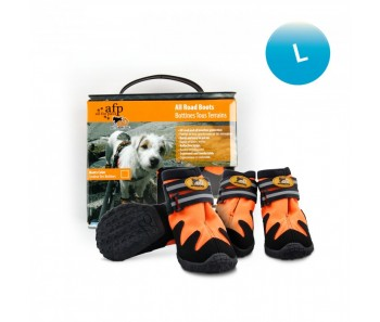 All For Paws - Outdoor Dog Shoes (#4) L - Available in Green & Orange