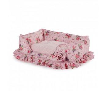 All For Paws - Shabby Chic Bolster Bed Medium Pink