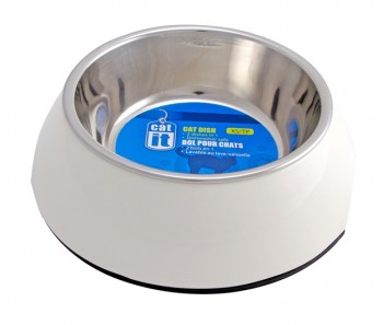 Catit 2-in1 Cat Dish White - Available in XS & S