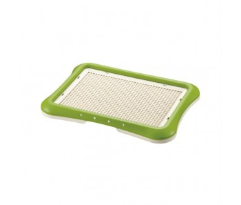 Richell Pee Tray With Mesh Regular (45W x 35D x 4H cm) - Green