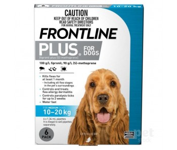 FRONTLINE® Plus For Dogs 10-20Kg – 6 Pipettes