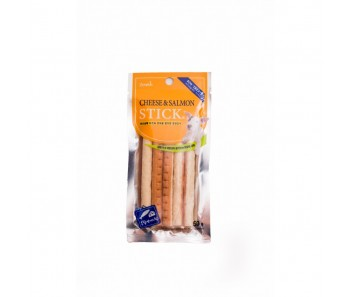 Bow Wow Dog Treats Cheese and Salmon Sticks 5pcs