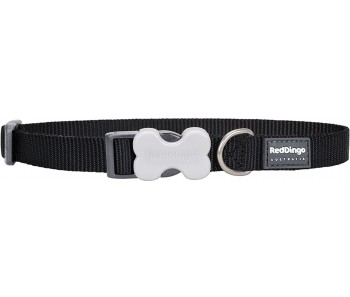 Red Dingo Dog Collar Classic - Black - Available In S, M, ML & L
