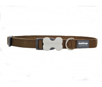 Red Dingo Dog Collar Classic - Brown - Available In S, M, ML & L