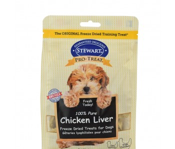 Stewart Pro-Treat® Freeze Dried Chicken Liver Pouch - 11.5 oz