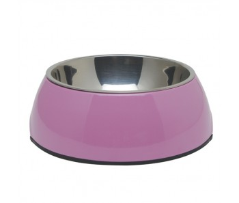 Dogit 2-in-1 Dog Dish Pink - Available in X-Small, Small, Medium & Large
