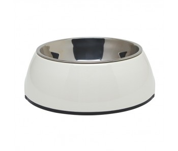 Dogit 2-in-1 Dog Dish White - Available in X-Small, Small, Medium & Large